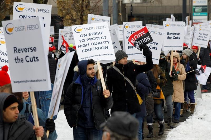 Public high schools in Ontario closed today as teachers hold one-day strike