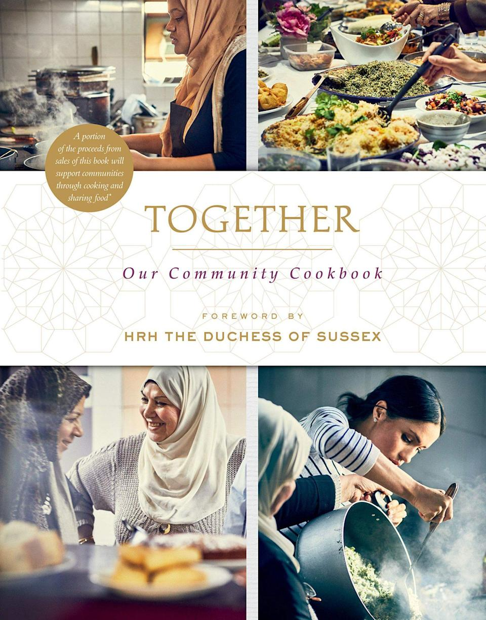 """<p>Meghan wrote the foreword to this cookbook, created to benefit the community affected by the Grenfell Tower fire — and there's a tasty reason it became a best-seller around the world. Even the kids will love the recipes!</p> <p><strong>Buy It! <em>Together: Our Community Cookbook</em>, <a href=""""https://www.amazon.com/Together-Community-Cookbook-Hubb-Kitchen/dp/1984824082/"""" rel=""""sponsored noopener"""" target=""""_blank"""" data-ylk=""""slk:$15"""" class=""""link rapid-noclick-resp"""">$15</a></strong></p>"""