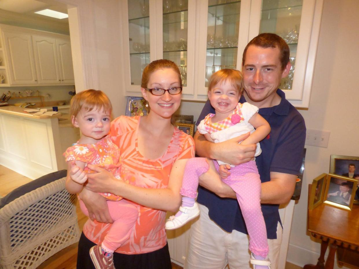 Ed Thompson with his wife, Laura, 29, and their daughters. (Photo: Courtesy of Ed Thompson)