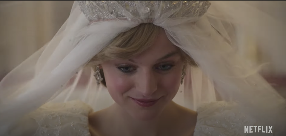 Emma Corrin as Princess Diana in season four of 'The Crown' (YouTube/Netflix)