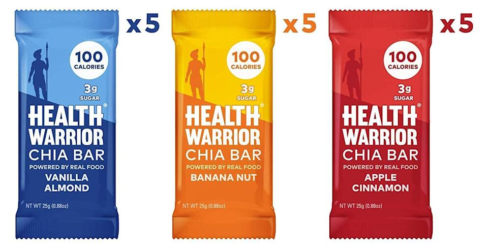 <p>You're going to live off these <span>Health Warrior Chia Bars</span> ($17 for 15).</p>
