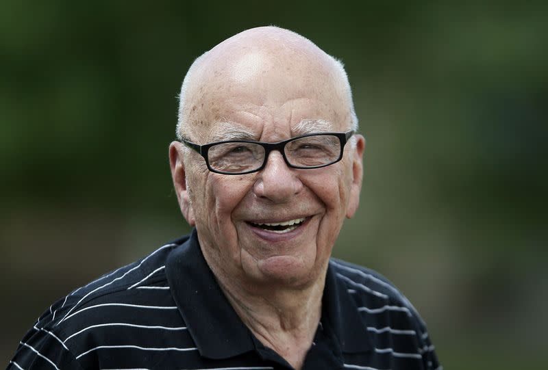 Twenty-First Century Fox Inc CEO Murdoch smiles on the second day of the Allen and Co. media conference in Sun Valley, Idaho