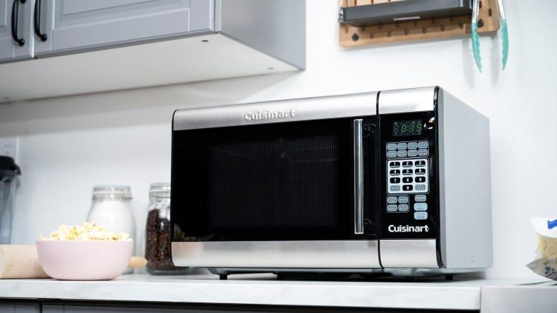 Our tester loved the bright interior light, intuitive cooking presets and even cooking this microwave provided.