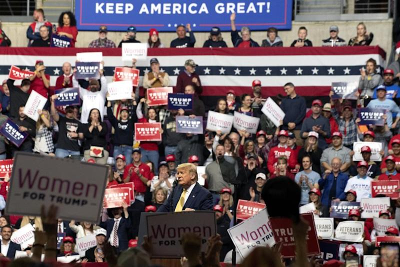 Donald Trump's campaign rally in Colorado, at which he lambasted Hollywood for giving the best picture award to Bong Joon-ho's Parasite.