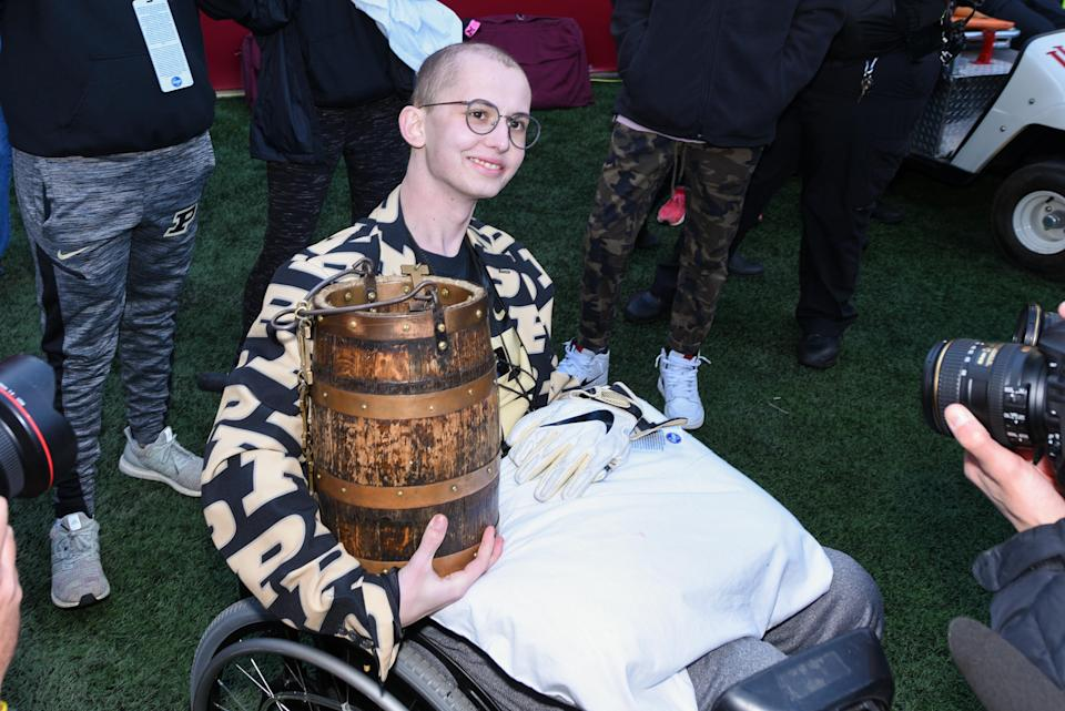 A man was arrested for allegedly making online threats against Tyler Trent's family. (Photo by James Black/Icon Sportswire via Getty Images)