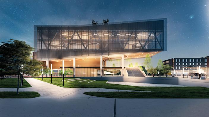 A rendering of the Propel Center, an innovation hub for the HBCU community. Apple will contribute $25 million as part of its launch.
