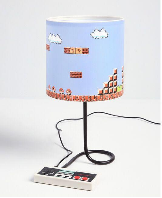 "For the dad who still plays Mario Kart &mdash; or, even better, for the dad who wishes he still did. Get it <a href=""https://www.modcloth.com/ca/shop/dresses/level-up-lamp-in-blue-multi/168913.html"" target=""_blank"" rel=""noopener noreferrer"">at ModCloth</a> for $48."
