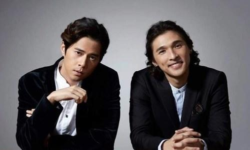 Chui with his partner Wong You Nam of the duo Shine