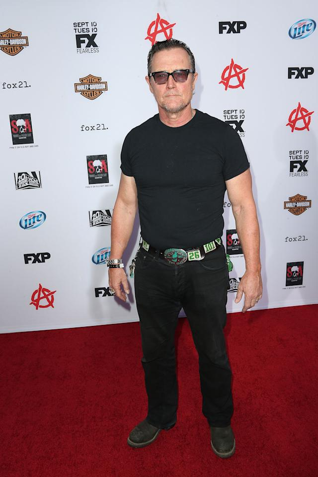 """HOLLYWOOD, CA - SEPTEMBER 07: Actor Robert Patrick attends the Premiere of FX's """"Sons of Anarchy"""" Season 6 at the Dolby Theatre on September 7, 2013 in Hollywood, California. (Photo by Frederick M. Brown/Getty Images)"""