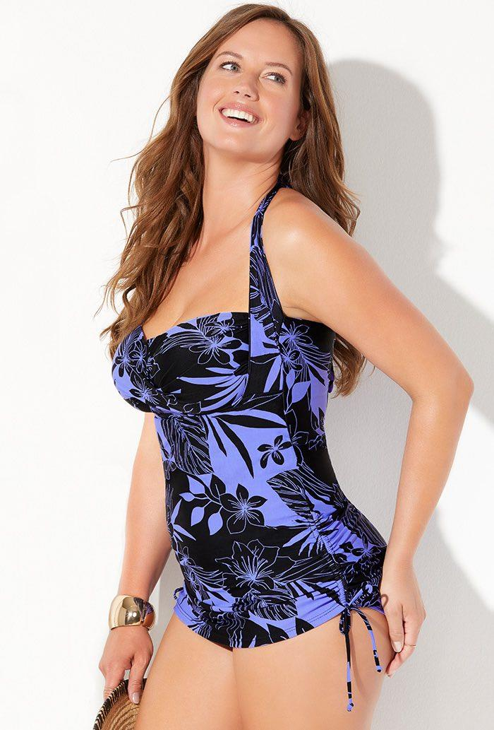 Anchor Convertible Sheath One Piece Swimsuit. Image via Swimsuits for All.