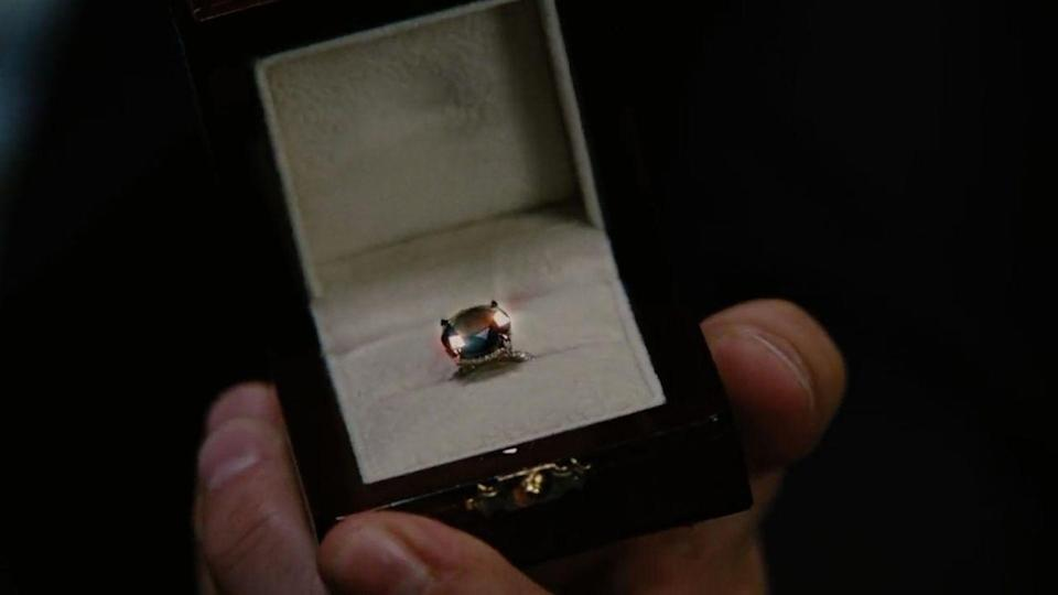 <p>Because Mr. Big knows Carrie Bradshaw so well, he proposed with a black diamond engagement ring in <em>Sex and the City 2</em>. *Cue the engagement ring trend*  </p>