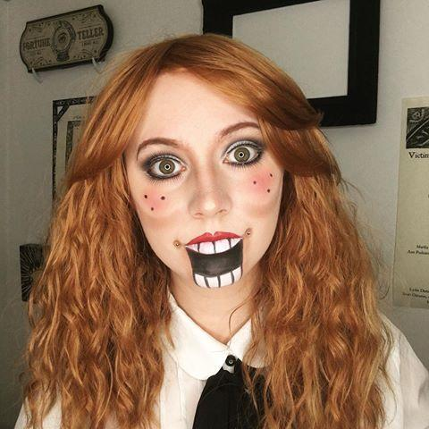 "<p>Let's be honest: Dolls are creepy. And ventriloquist dolls? Well, they're flat-out terrifying. Even though this looks like a tough costume to DIY, it's surprisingly simple — you just need eyeliner, <a href=""https://www.goodhousekeeping.com/beauty/makeup/a35631/how-to-apply-eye-makeup-guide/"" rel=""nofollow noopener"" target=""_blank"" data-ylk=""slk:eyeshadow"" class=""link rapid-noclick-resp"">eyeshadow</a>, and lipstick. </p><p><a href=""https://www.instagram.com/p/Bo2JLxBHoQU/&hidecaption=true"" rel=""nofollow noopener"" target=""_blank"" data-ylk=""slk:See the original post on Instagram"" class=""link rapid-noclick-resp"">See the original post on Instagram</a></p>"