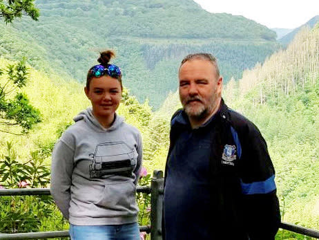 Stephanie and her dad were visiting Mr Pollard's mother who has lung cancer: SWNS