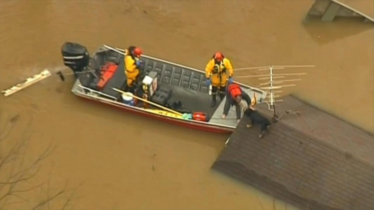 Man, Dog Rescued From Roof of Missouri Home During ...
