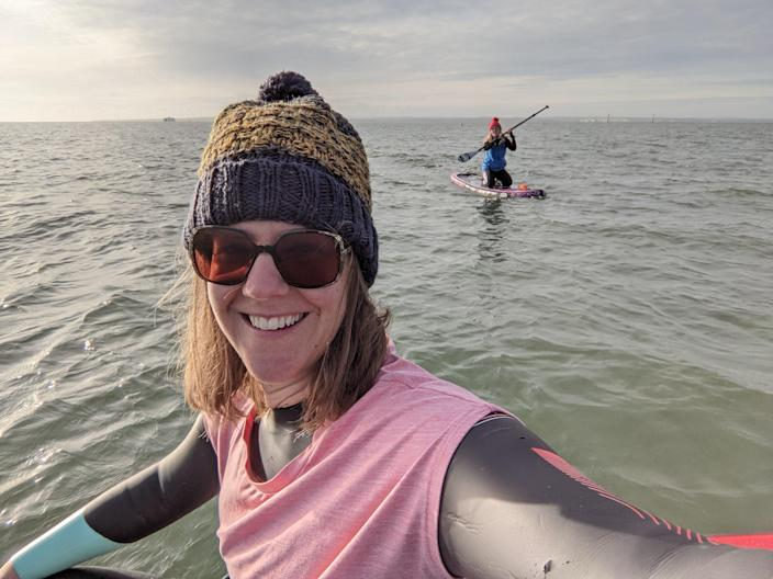 Even just standing on a SUP on water engages the core musclesVictoria Philpot
