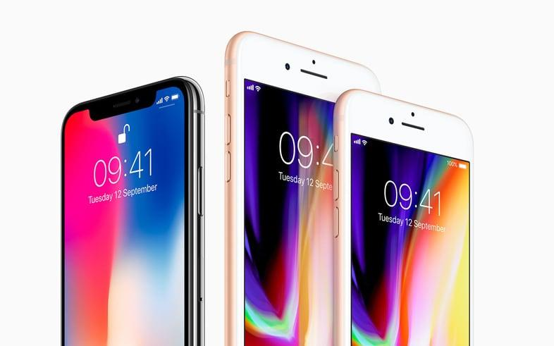iPhone X, iPhone 8 Plus and iPhone 8 - Apple