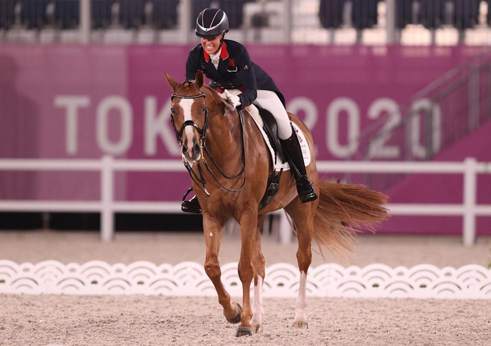 <p>After an impressive display earning bronze as part of GB's dressage final team, Charlotte Dujardin has become Great Britain's most decorated female Olympian ever after winning bronze in the individual dressage event. Dujardin surpassed rower Katherine Grainger's five Olympic medals record, having now won six. <br></p>