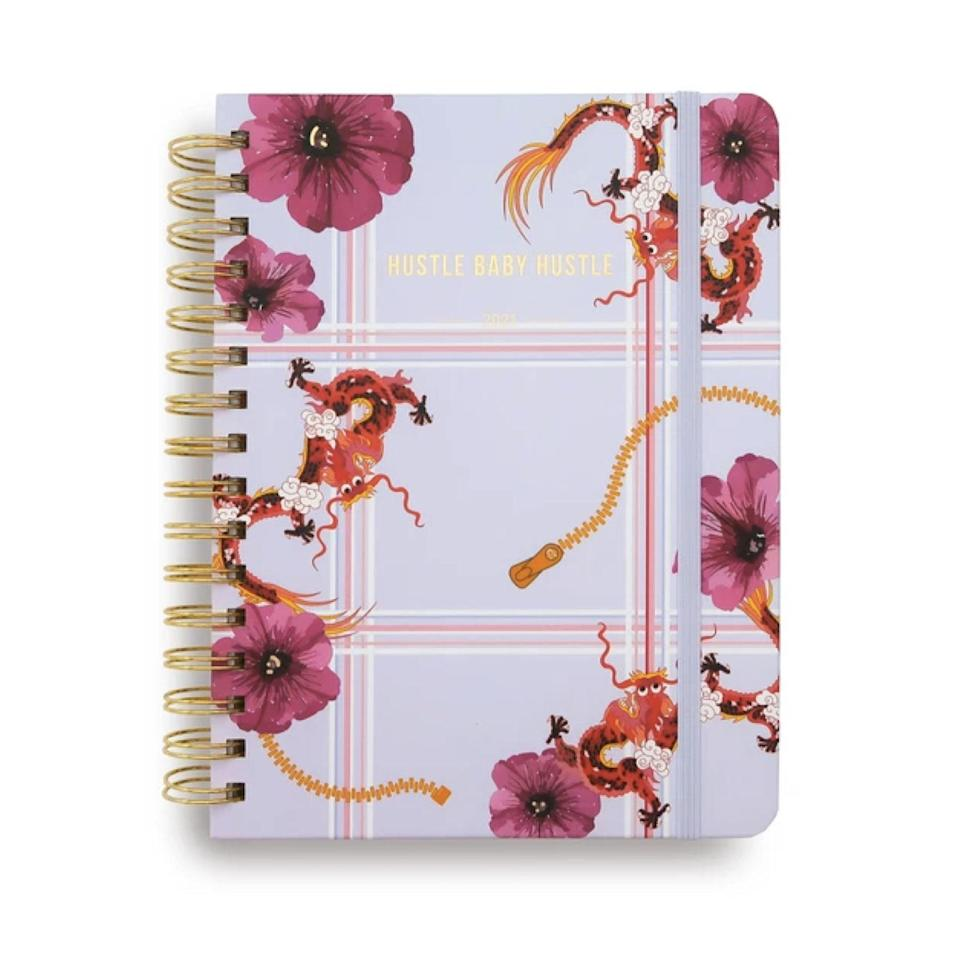 "With uplifting messages scattered throughout, this artistic planner will help you keep your eye on the prize when you need a reminder why you started. $38, Pellatini. <a href=""https://www.pellatini.com/collections/planners/products/hustle-planner"" rel=""nofollow noopener"" target=""_blank"" data-ylk=""slk:Get it now!"" class=""link rapid-noclick-resp"">Get it now!</a>"