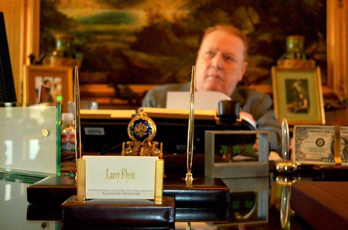 Larry Flynt pictured in 2011 inside his Beverly Hills office.Enrique Limón