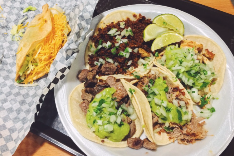 """<p>Not only will you be able to get amazing tacos and enchiladas at this place, you can also get <a href=""""https://gilibertos.com/"""" rel=""""nofollow noopener"""" target=""""_blank"""" data-ylk=""""slk:Gilberto's Mexican Taco Shop"""" class=""""link rapid-noclick-resp"""">Gilberto's Mexican Taco Shop</a>'s famous fried cheesecake and ice cream. </p><p><em>Check out <a href=""""https://www.facebook.com/gilibertos/"""" rel=""""nofollow noopener"""" target=""""_blank"""" data-ylk=""""slk:Gilberto's Mexican Taco Shop"""" class=""""link rapid-noclick-resp"""">Gilberto's Mexican Taco Shop</a> on Facebook.</em></p>"""