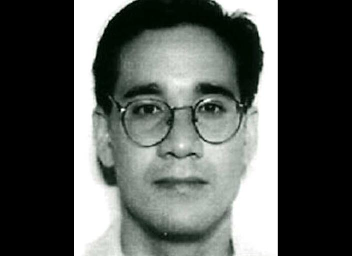 Andrew Cunanan is seen in this 1997 mugshot from the FBI. Cunanan murdered five men from Minneapolis to Miami, including fashion designer Gianni Versace. As investigators closed in on him, Cunanan committed suicide in 1997.