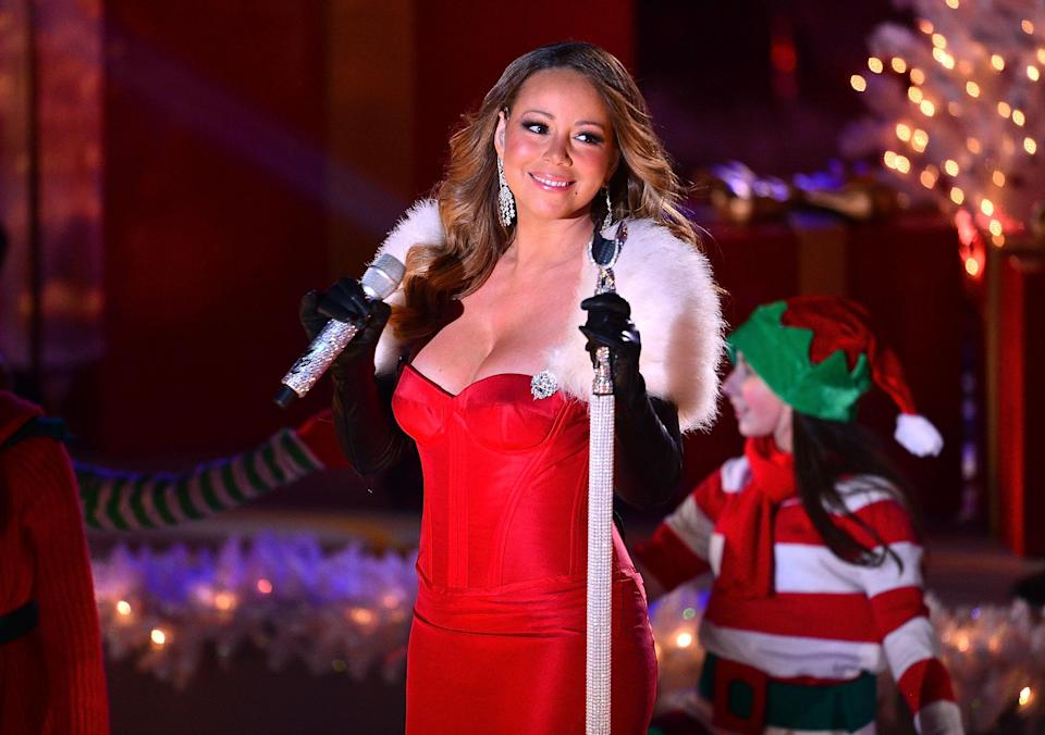 Mariah Carey performs at the 81st Annual Rockefeller Center Christmas Tree Lighting at Rockefeller Center on Dec. 3, 2013, in New York City. (Photo: James Devaney/WireImage)