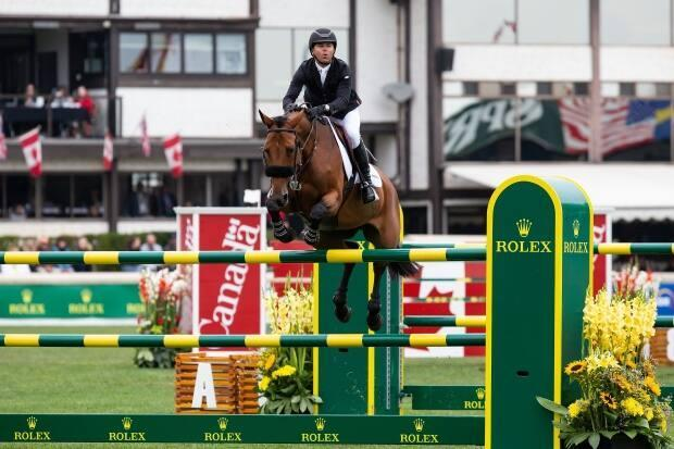 American Kent Farrington is off to a great start at the2021 Spruce Meadows Series, having won the Telus Cup at the 'Masters' on Thursday after winning the PwC Cup and the RBC Grand Prix of Canada at the 'National' last week.  (Codie McLachlan/Getty Images - image credit)