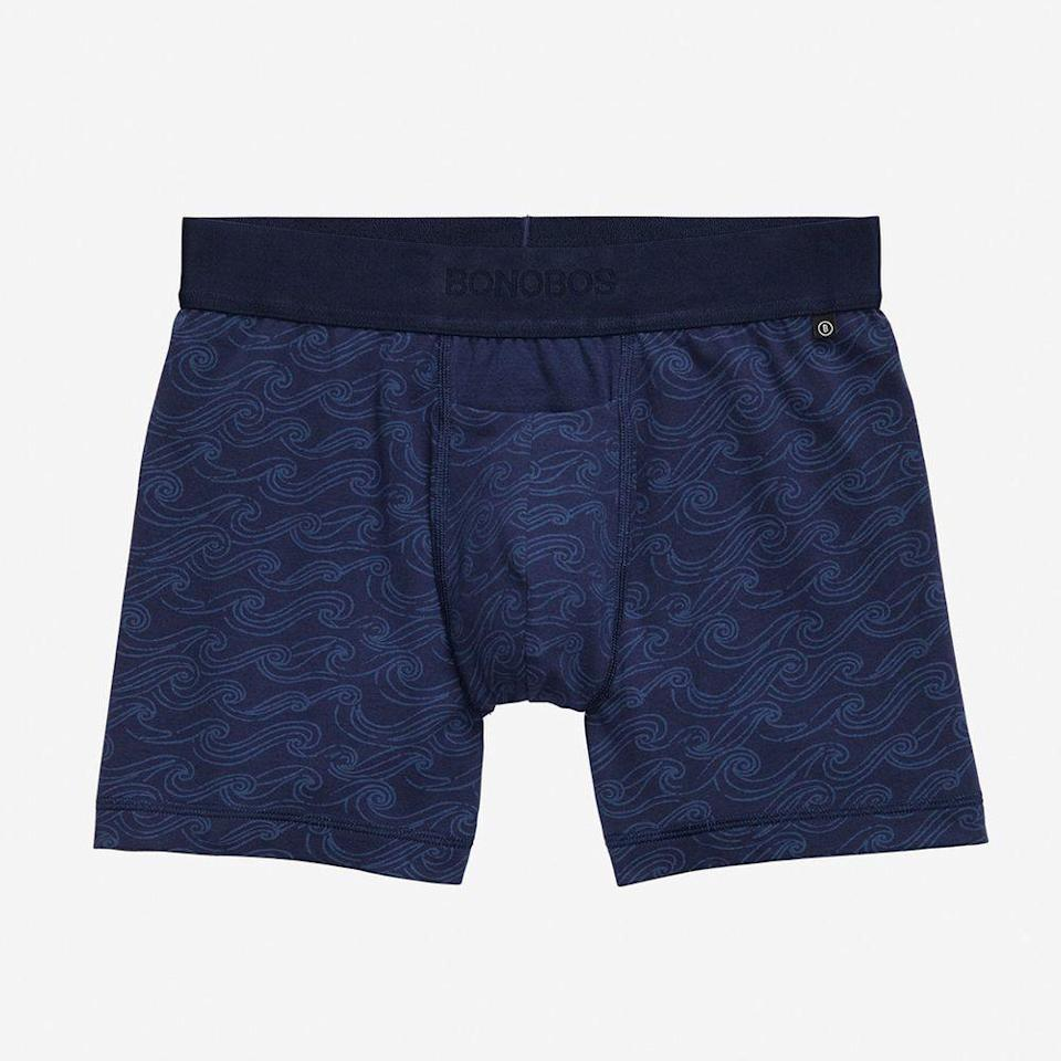 """<p>bonobos.com</p><p><strong>$34.00</strong></p><p><a href=""""https://go.redirectingat.com?id=74968X1596630&url=https%3A%2F%2Fbonobos.com%2Fproducts%2Funderwear&sref=https%3A%2F%2Fwww.menshealth.com%2Fstyle%2Fg19546347%2Fthe-best-mens-underwear%2F"""" rel=""""nofollow noopener"""" target=""""_blank"""" data-ylk=""""slk:BUY IT HERE"""" class=""""link rapid-noclick-resp"""">BUY IT HERE</a></p><p>Get your suit, casual weekend attire, and your new favorite underwear all at Bonobos. Available in 14 colorways and multiple fits, there's an option for every guy to sport these cotton-blend underpants. </p>"""