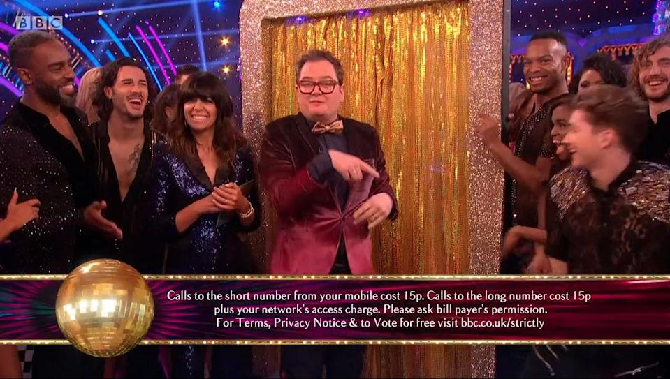 Alan Carr on Strictly (Credit: BBC)