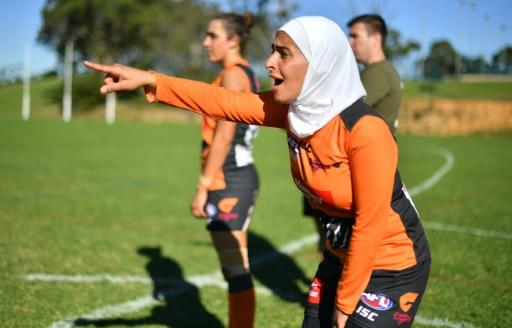 Amna Karra-Hassan, a 29-year-old Lebanese-Australian playing Aussie Rules football in western Sydney -- among the country's fastest growing regions and traditionally rugby league heartland