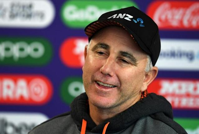 "Black Caps coach Gary Stead says New Zealanders face a ""long night"" during the World Cup final (AFP Photo/Dibyangshu SARKAR)"