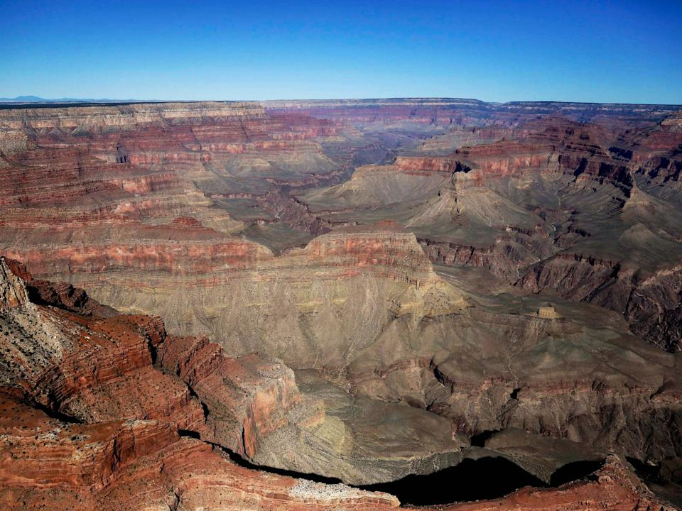 The Grand Canyon National Park as seen from a helicopter near Tusayan, Arizona (AP Photo/Julie Jacobson, File): AP