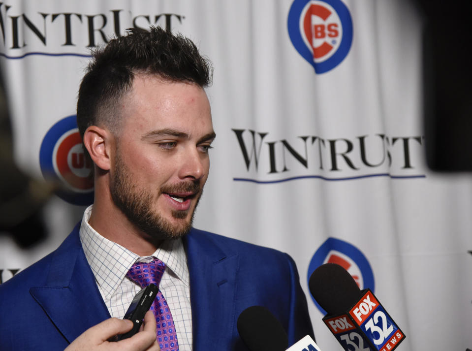 Kris Bryant is in trouble with Cardinals fans. (AP Photo/Matt Marton)