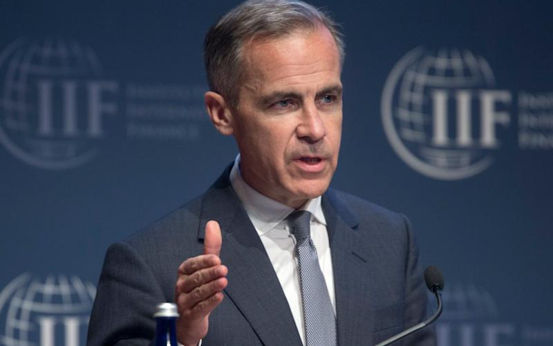 Mark Carney gave a speech at the IMF, warning on the effects of Brexit - EPA