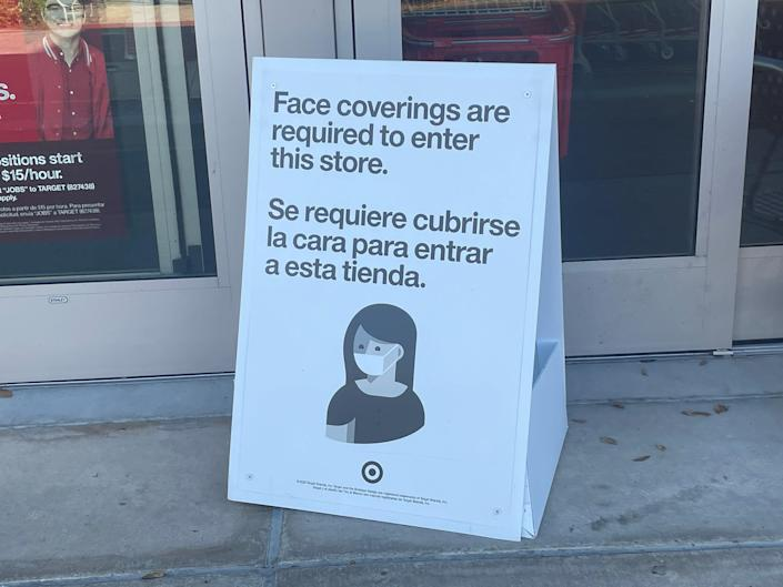 Target started requiring consumers wear masks in stores nationwide in August 2020.