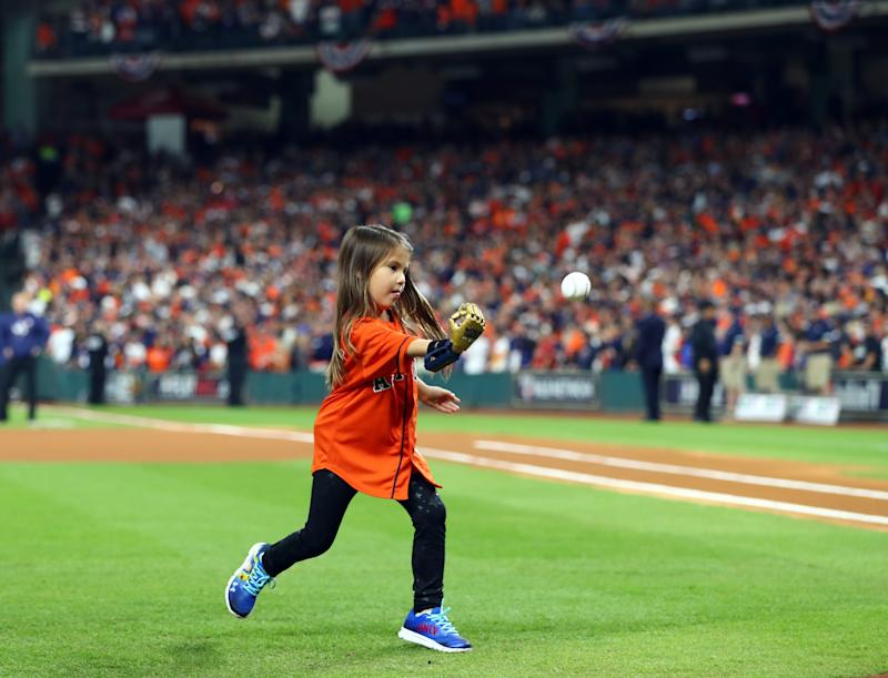 Hailey Dawson reached an incredible milestone on her journey to make Major League Baseball history. (Alex Trautwig via Getty Images)