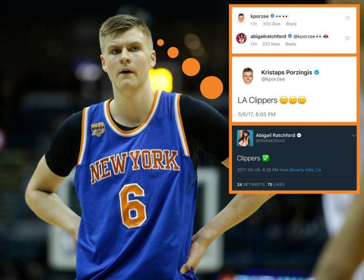 Kristaps Porzingis got everyone thinking. (AP)