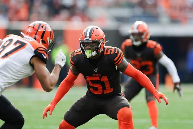 Browns starting LB Mack, CB Williams back from injuries