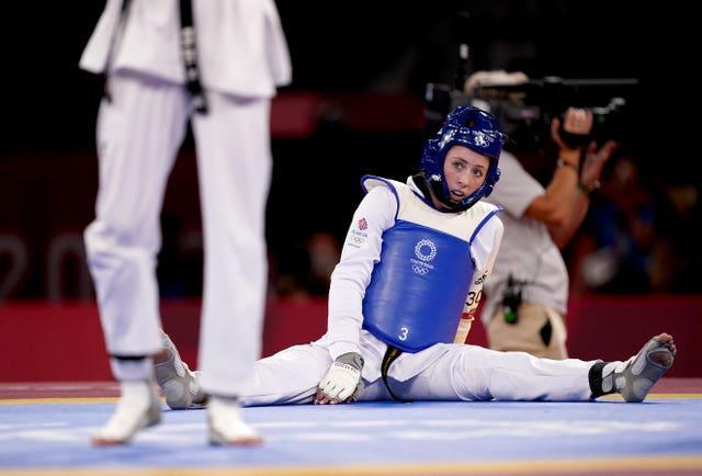 Jones was bidding to become the first woman to win gold at three successive Games for Team GB