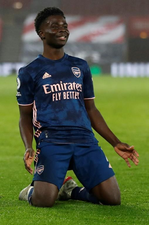 Super Saka: Bukayo Saka scored his fifth goal of the season in Arsenal's win at Southampton