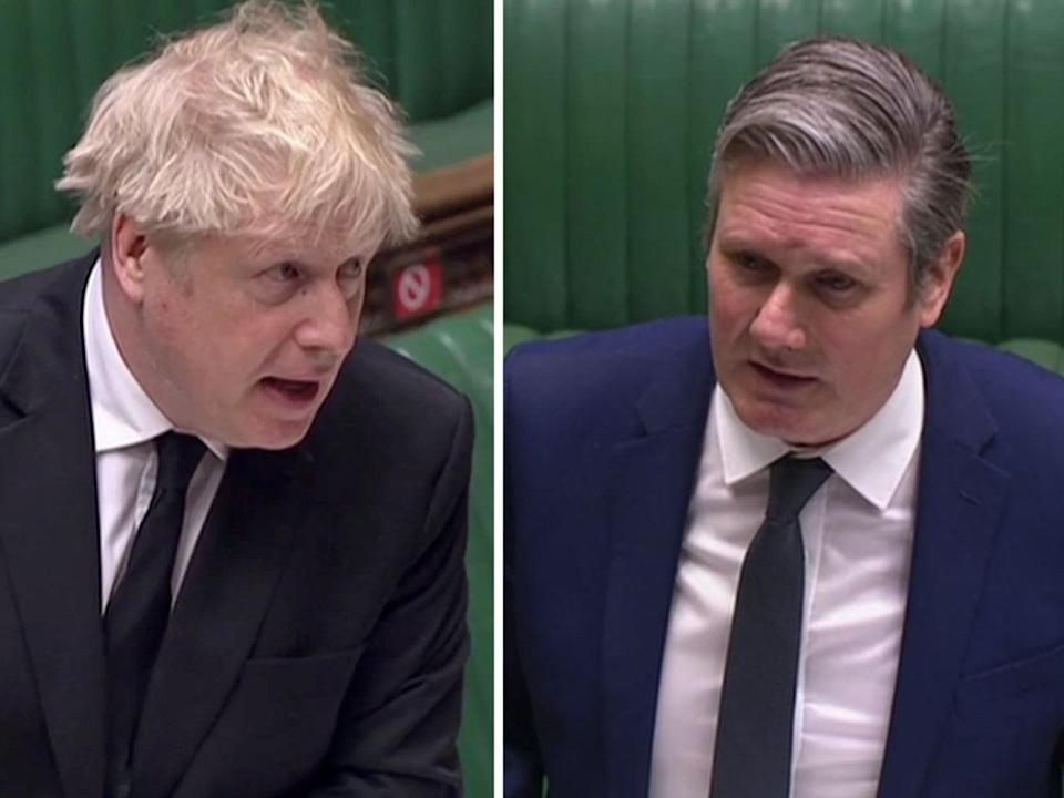 <p>Keir Starmer tried to pin Boris Johnson down on the Greensill lobbying scandal at PMQs</p> (PA)