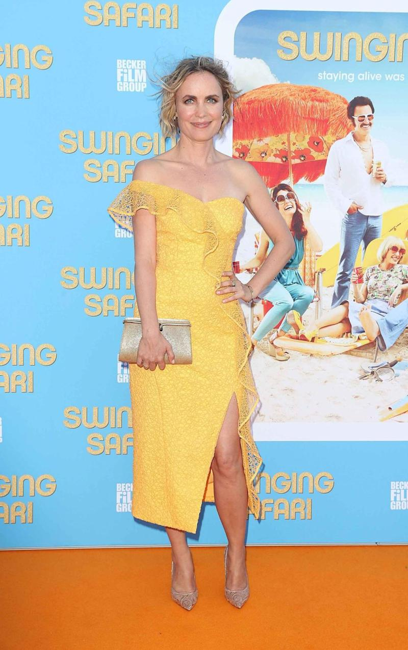 Radha Mitchell (here at the premiere) wasn't too keen to share her thoughts on swinging. Source: Getty