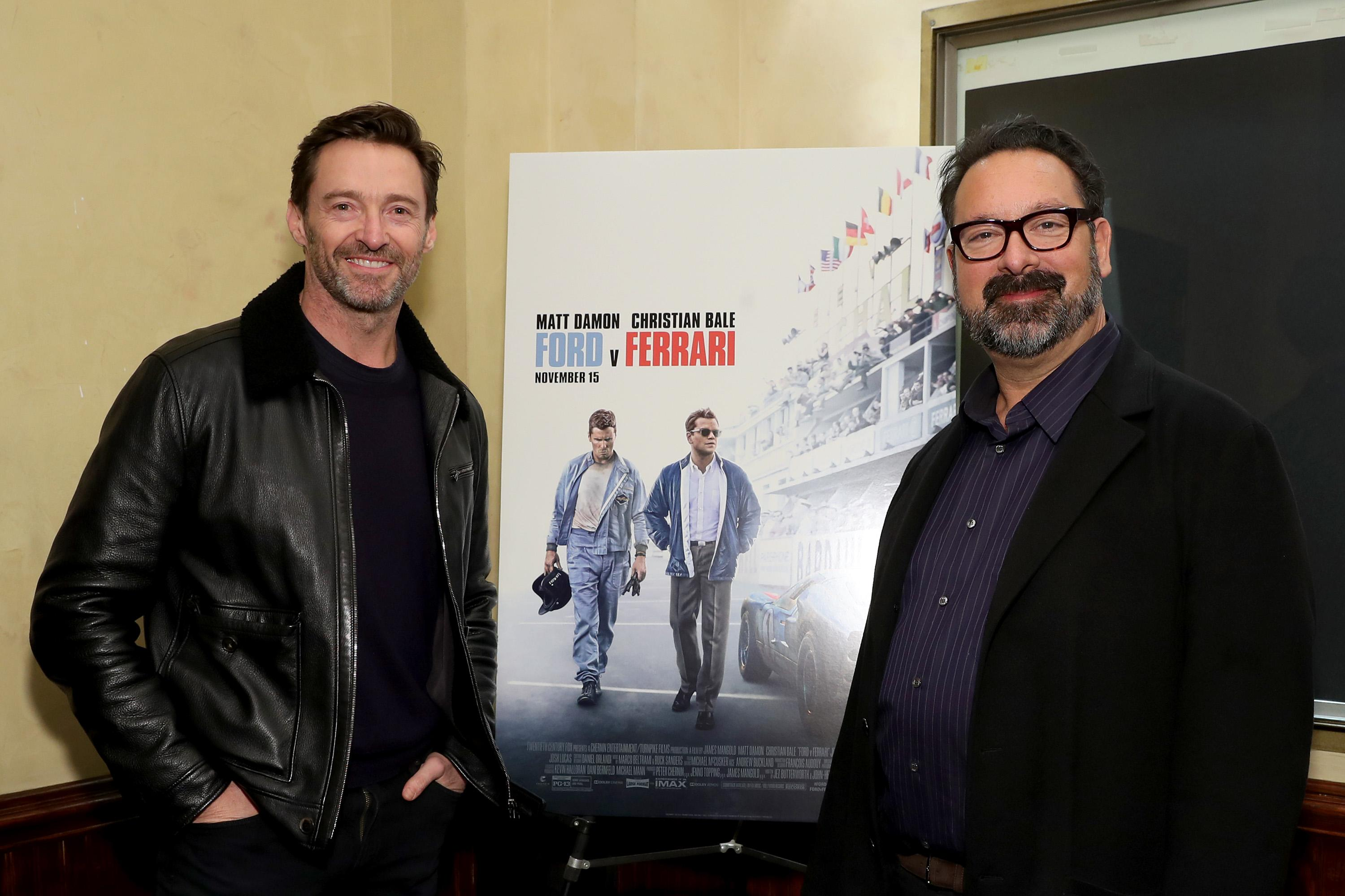"NEW YORK, NEW YORK - NOVEMBER 09: Hugh Jackman Hosts A Screening Of ""Ford v Ferrari"" With Director James Mangold on November 09, 2019 in New York City. (Photo by Cindy Ord/Getty Images for Twentieth Century Fox)"