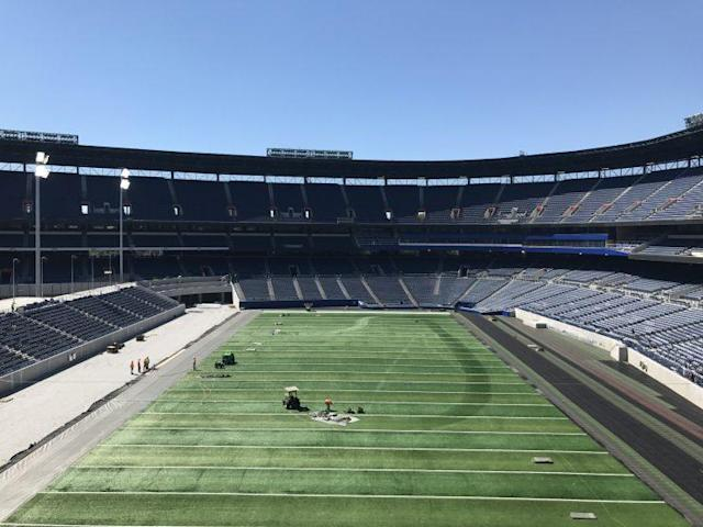 "Looking from ""left field"" back toward ""home plate"" at the former Turner Field. (Yahoo Sports)"