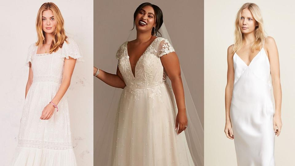 Wedding dresses for every kind of COVID wedding.
