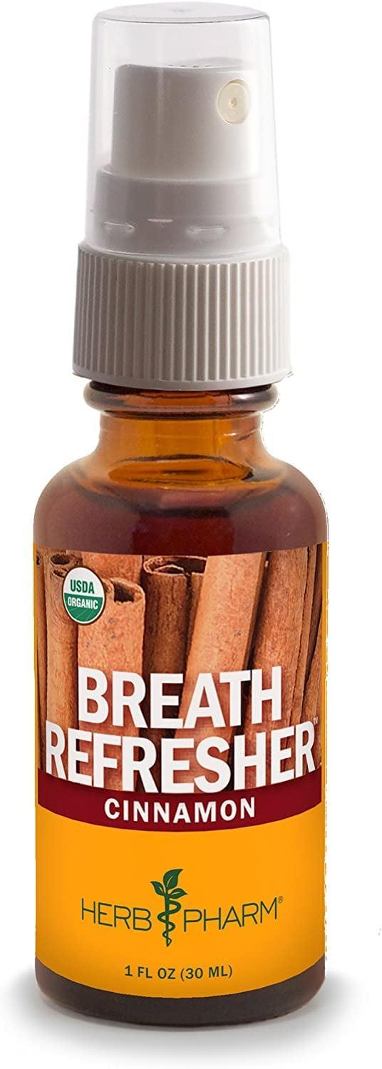 <p>You can feel good about spritzing <span>Herb Pharm's Cinnamon Herbal Fresh Breath Spray</span> ($12) because it's certified organic, non-GMO, sugar-free, and doesn't contain synthetic colors, sweeteners, and preservatives.</p>