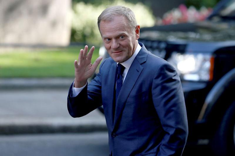 EU President Donald Tusk Says 'We Don't Want to Build a Wall' With UK