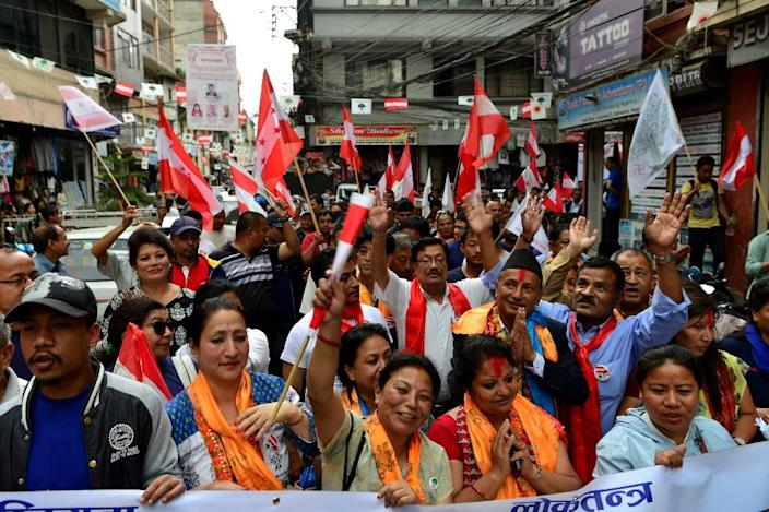 Nepal holds its first local elections in two decades on May 14, hoping to cement a fraught transition to democracy and fill an institutional void that has seen corruption flourish (AFP Photo/Prakash MATHEMA)