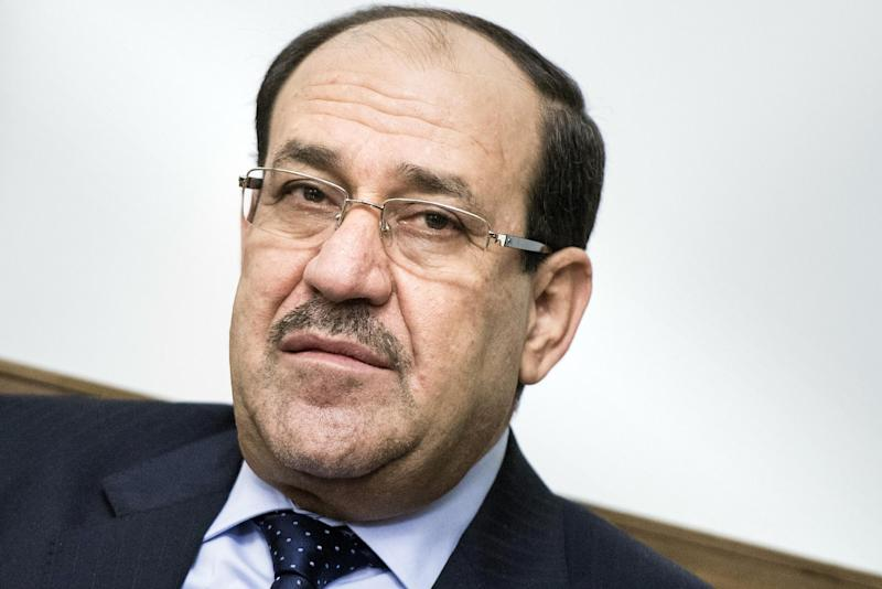 File picture taken on June 23, 2014 shows Iraqi Prime Minister Nuri al-Maliki during a meeting with US Secretary of State at the Prime Minister's Office in Baghdad (AFP Photo/Brendan Smialowski)