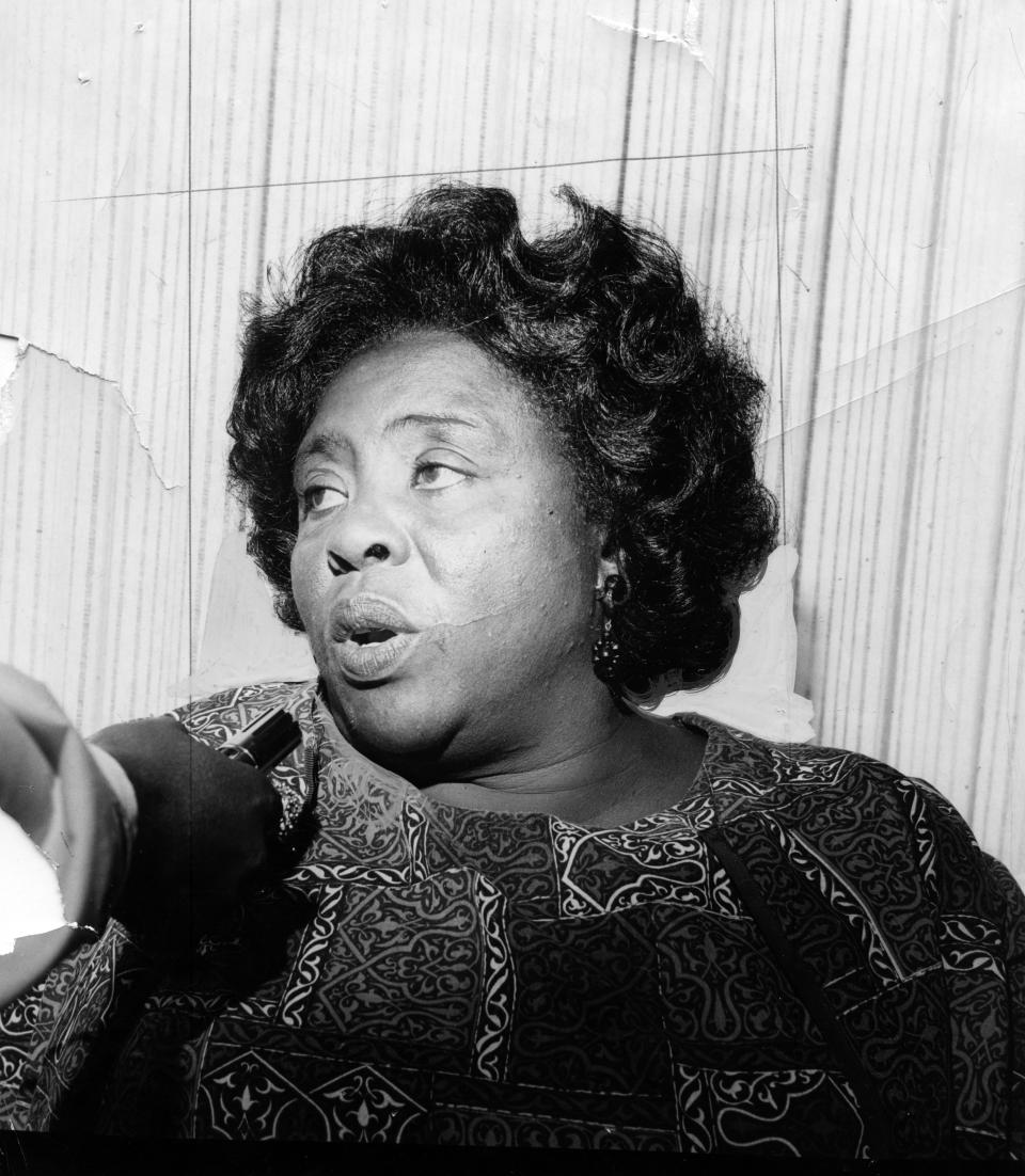 Fannie Lou Harmer, civil rights leader, in 1968. (Photo: Getty)